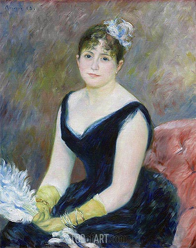 Madame Leon Clapisson, 1883 | Renoir| Painting Reproduction