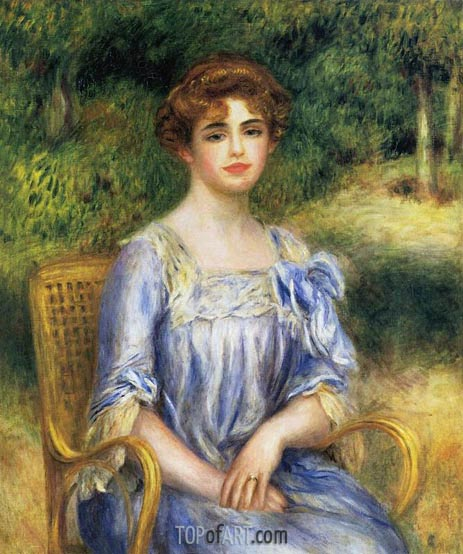 Madame Gaston Bernheim de Villers (Suzanne Adler), 1901 | Renoir | Painting Reproduction