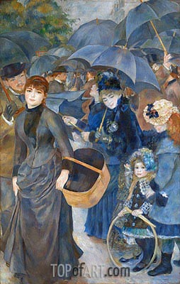The Umbrellas, c.1881/86 | Renoir| Painting Reproduction
