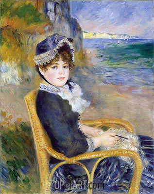 By the Seashore, 1883 | Renoir | Painting Reproduction