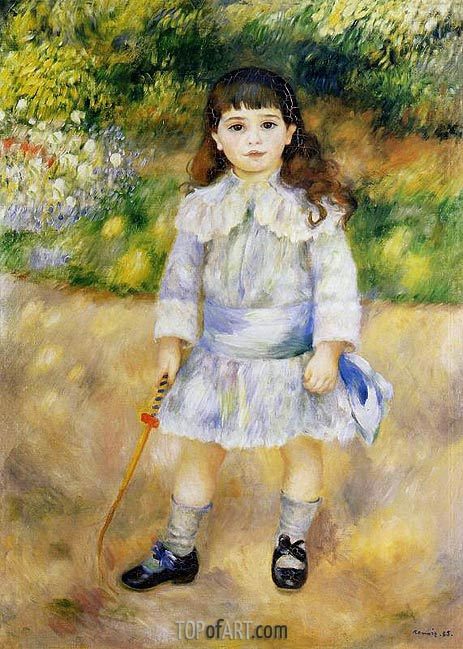 Child with a Whip, 1885 | Renoir | Gemälde Reproduktion