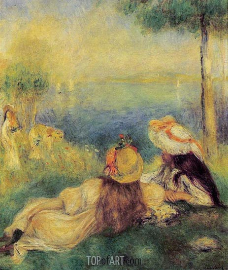 Young Girls at the Seaside, 1894 | Renoir | Gemälde Reproduktion