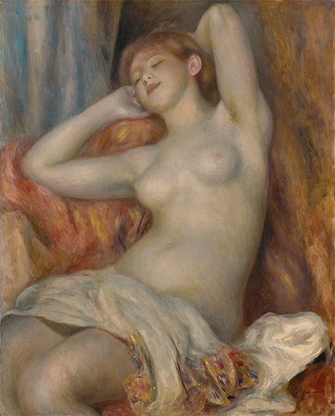 The Sleeping Bather (The Sleeper), 1897 | Renoir| Gemälde Reproduktion