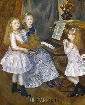 Renoir | The Daughters of Catulle Mendes, 1888