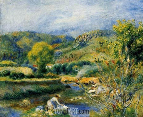 The Washerwoman (The Laundress), c.1891 | Renoir| Gemälde Reproduktion