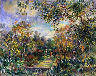 Landscape at Beaulieu, c.1893 | Renoir | Painting Reproduction