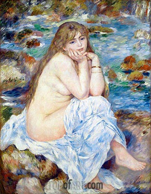 Seated Bather, c.1883/84 | Renoir| Painting Reproduction