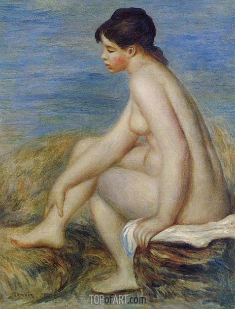 Seated Bather, 1882 | Renoir | Painting Reproduction