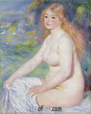 Blonde Bather, 1881 | Renoir| Painting Reproduction
