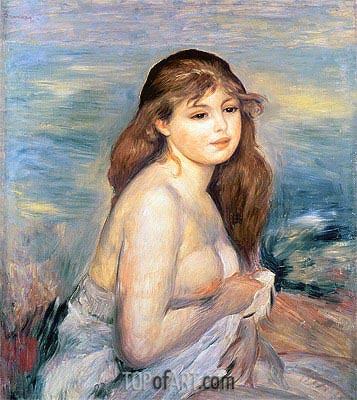 After the Bath (Little Bather), 1887 | Renoir | Painting Reproduction