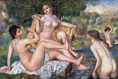 The Bathers, c.1884/87 | Renoir | Gemälde Reproduktion