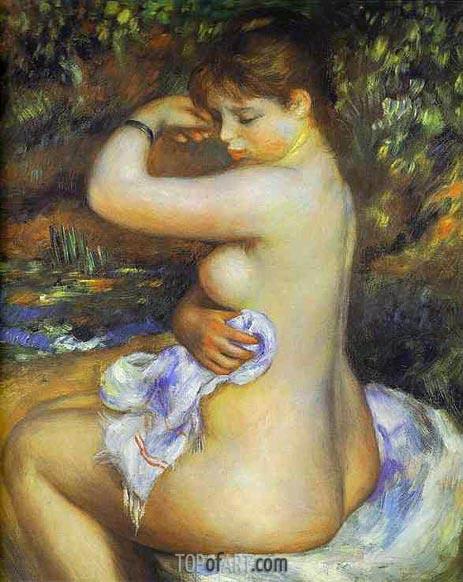 Nach dem Bad, 1888 | Renoir | Gemälde Reproduktion
