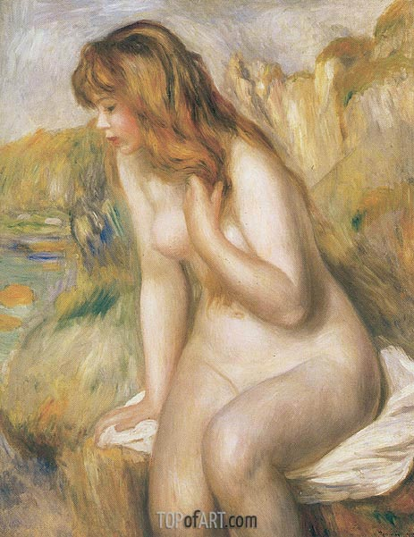 Renoir | Bather Seated on a Rock, 1892