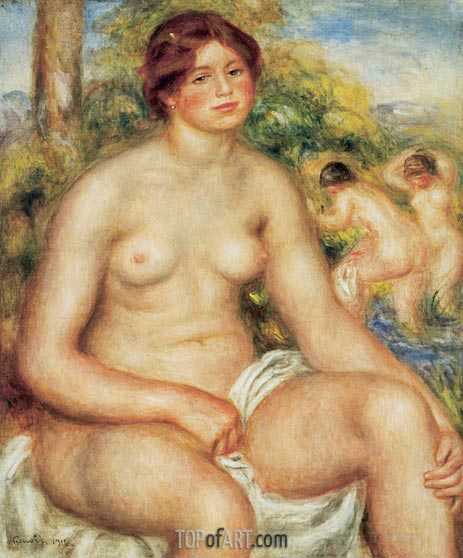 Seated Nude, 1914 | Renoir| Painting Reproduction
