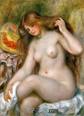 Renoir | Bather with Loose Blonde Hair, c.1903