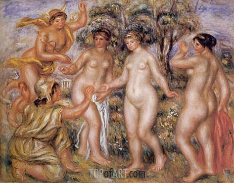 The Judgement of Paris, 1914 | Renoir | Gemälde Reproduktion