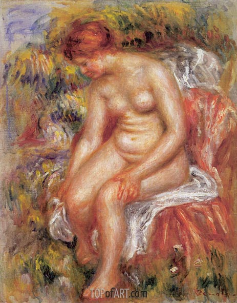 Bather Drying her Leg, 1895 | Renoir | Painting Reproduction