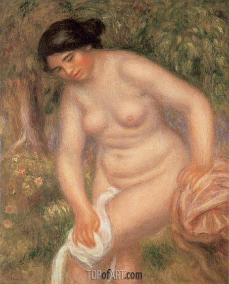 Bather Drying Herself, 1895 | Renoir | Painting Reproduction
