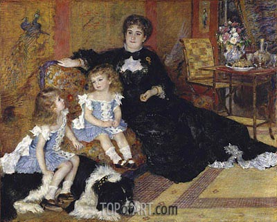 Madame Georges Charpentier and Her Children, 1878 | Renoir| Painting Reproduction