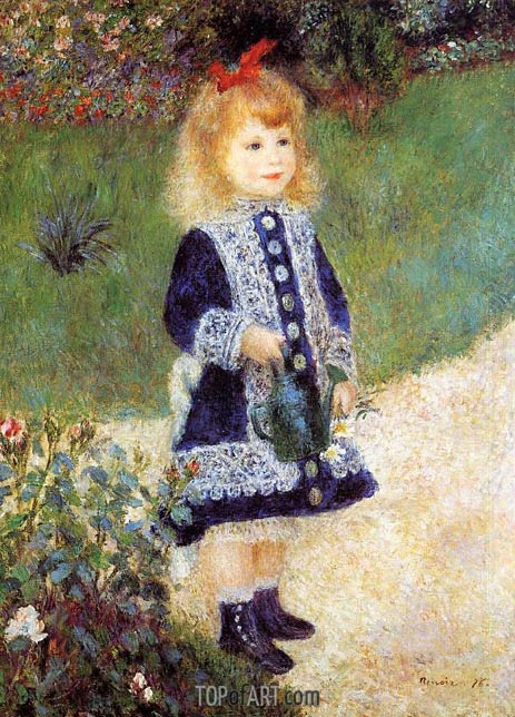 Girl with a Watering Can, 1876 | Renoir | Gemälde Reproduktion