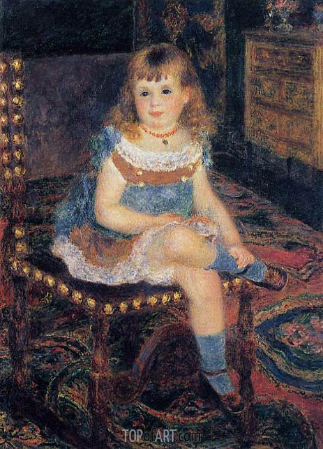 Mademoiselle Georgette Charpentier Seated, 1876 | Renoir| Painting Reproduction