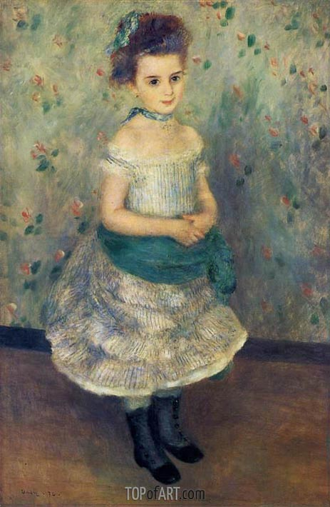 Jeanne Durand-Ruel, 1876 | Renoir| Painting Reproduction