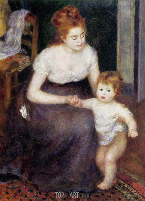 The First Step, 1876 | Renoir | Painting Reproduction