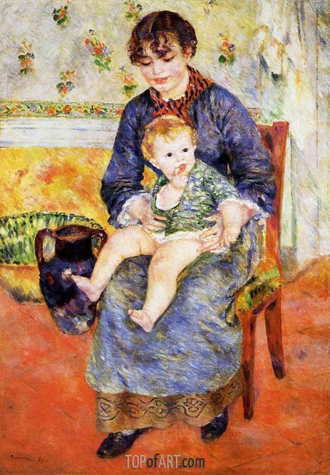 Mother and Child, 1881 | Renoir | Painting Reproduction