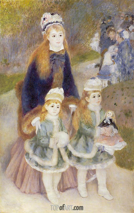 Mother and Children, c.1874/76 | Renoir| Gemälde Reproduktion