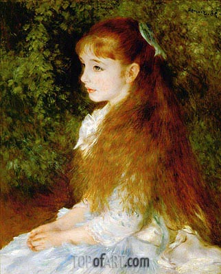 Irene Cahen d'Anvers, 1880 | Renoir | Painting Reproduction