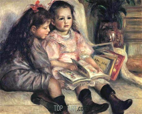 The Children of Martial Caillebotte, 1895 | Renoir | Painting Reproduction