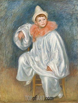 White Pierrot (Jean Renoir), c.1901/02 | Renoir| Painting Reproduction
