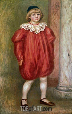 The Clown (Claude Renoir), 1909 | Renoir | Painting Reproduction
