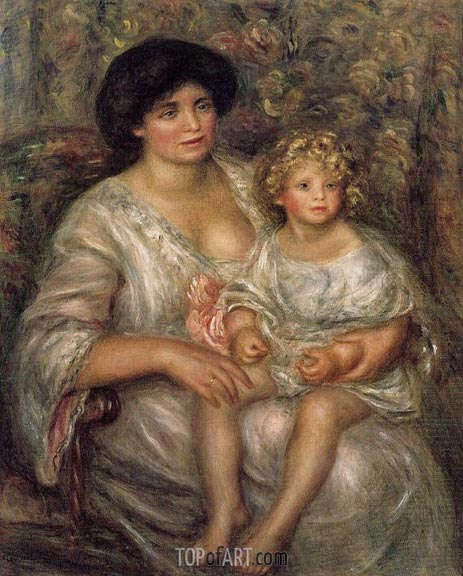 Madame Thurneyssan and Her Daughter, 1910 | Renoir | Gemälde Reproduktion