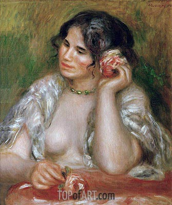 Gabrielle with a Rose, 1911 | Renoir | Gemälde Reproduktion
