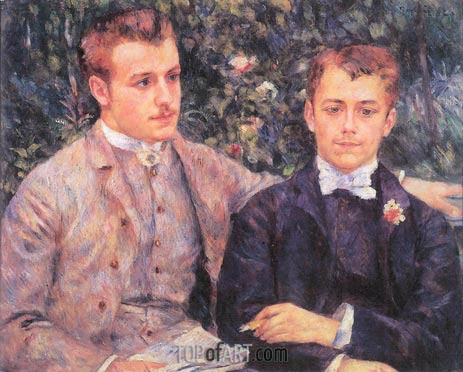 Portrait of Charles and Georges Durand-Ruel, 1882 | Renoir | Gemälde Reproduktion