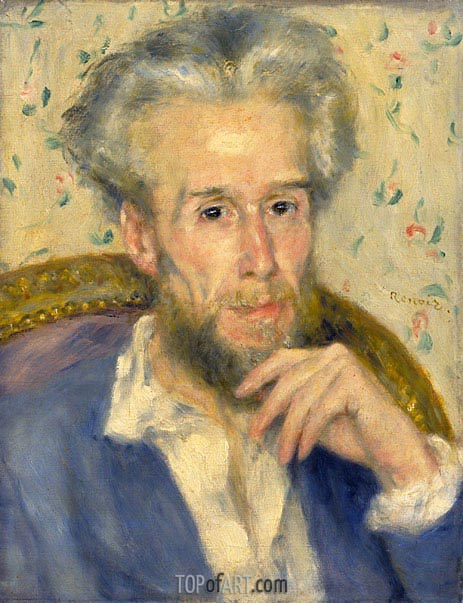 Portrait of Victor Chocquet, c.1876 | Renoir | Painting Reproduction