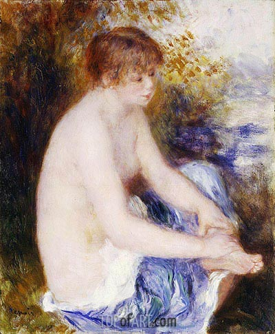 Little Blue Nude, c.1878/79 | Renoir | Gemälde Reproduktion
