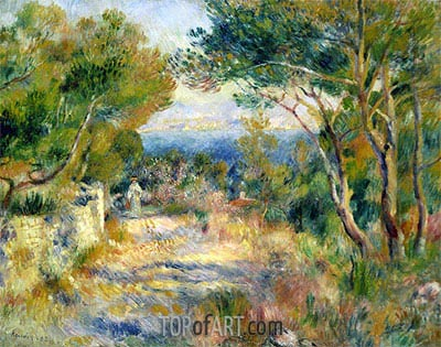 L'Estaque, 1882 | Renoir | Gemälde Reproduktion