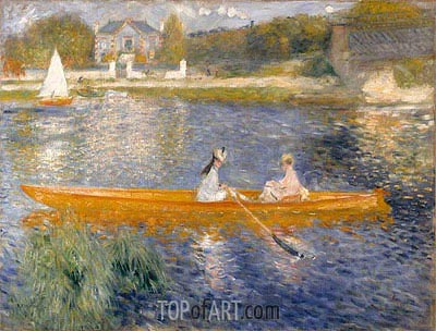 The Skiff (La Yole), 1875 | Renoir| Painting Reproduction