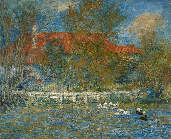 The Duck Pond, 1873 | Renoir| Painting Reproduction