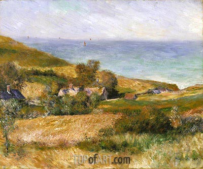 View of the Seacoast near Wargemont in Normandy, 1880 | Renoir| Painting Reproduction