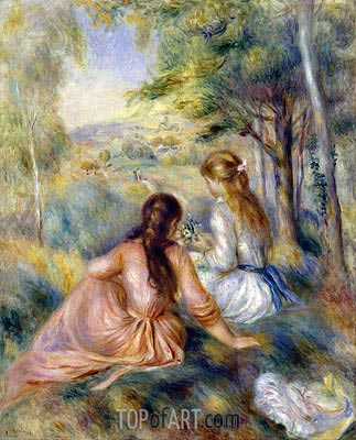 In the Meadow, c.1888/92 | Renoir | Gemälde Reproduktion