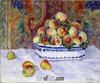 Still Life with Peaches, 1881 | Renoir | Gemälde Reproduktion