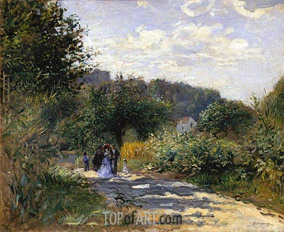 A Road in Louveciennes, c.1870 | Renoir | Gemälde Reproduktion