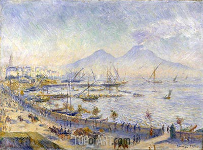 The Bay of Naples, 1881 | Renoir | Gemälde Reproduktion