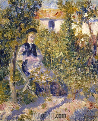 Nini in the Garden (Nini Lopez), c.1875/76 | Renoir| Painting Reproduction