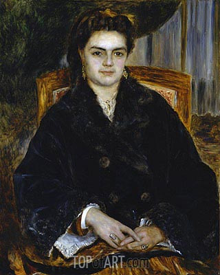 Madame Edouard Bernier (Marie-Octavie-Stephanie Laurens), 1871 | Renoir| Painting Reproduction