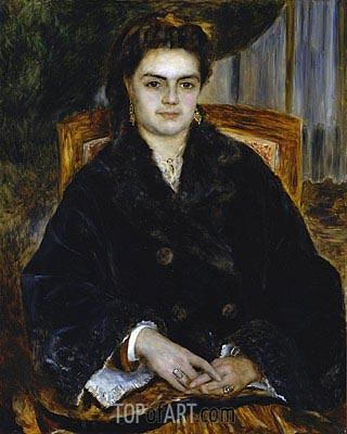 Madame Edouard Bernier (Marie-Octavie-Stephanie Laurens), 1871 | Renoir | Painting Reproduction