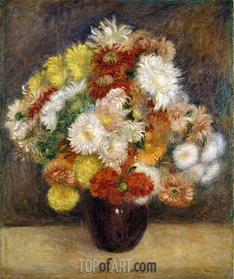 Bouquet of Chrysanthemums, 1881 | Renoir | Gemälde Reproduktion